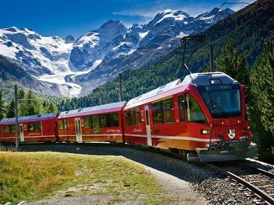 Bernina Train and St Moritz