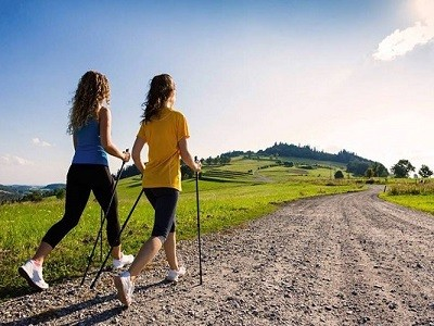Nordic walking between Maggiore Lake and Piemontes